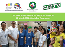 Operation Restore Hope 2017 - Donations by PNZBC and Zesto Corporation