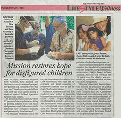 ORH 2012 Mission Restores disfigured Children Newspaper Article